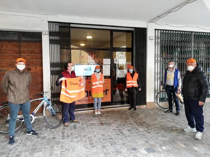 Consegna spesa Auser Castelnovo Sotto.